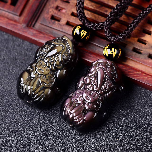 Wholesale supply switch counter ice Rainbow Obsidian brave new pendant jewelry and three money back