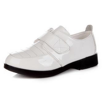 Boys black white dress shoes children's fashion leather wedding spring summer casual flat shoes infantis 384