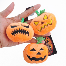 1 Pc Mini Halloween Pumpkin Expression Bag Plush Pendant Funny Cartoon Animal Toy Doll Birthday Christmas Gifts Toys for Kids(China)