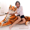 130cm Oversize Tiger Plush Toys Animal Doll Environmental Tiger Plush Doll High-end Ultra-Realistic Simulation Tiger Plush Toys