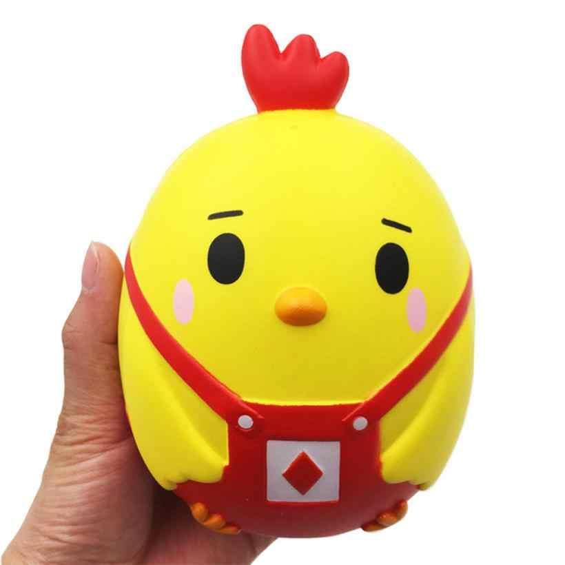 Juguete blando antiestrés que sube lento Kawaii dedo huevo ponedor pollo helado Animal Jumbo correa para teléfono Squishi juguete exprimidor 30 #