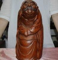 Ev ve Bahçe'ten Statü ve Heykelleri'de Benzersiz Çin Eski Bambu Kök saf El Oyma Zengin Zengin adam Insanlar Heykeli Bir