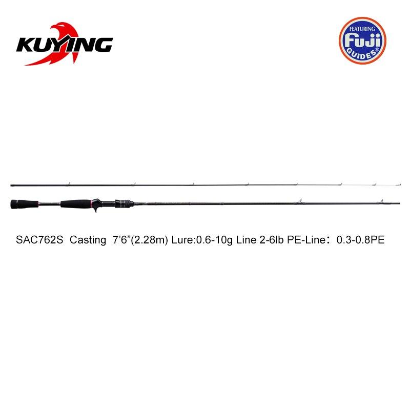 KUYING Nieuwe SUPERLITE 2.28m 7'6 2.58 m 8'6 Spinning Casting Vissen Lokken Rod Stick Cane Pole Super snelle Actie Bodem Water Vis - 2
