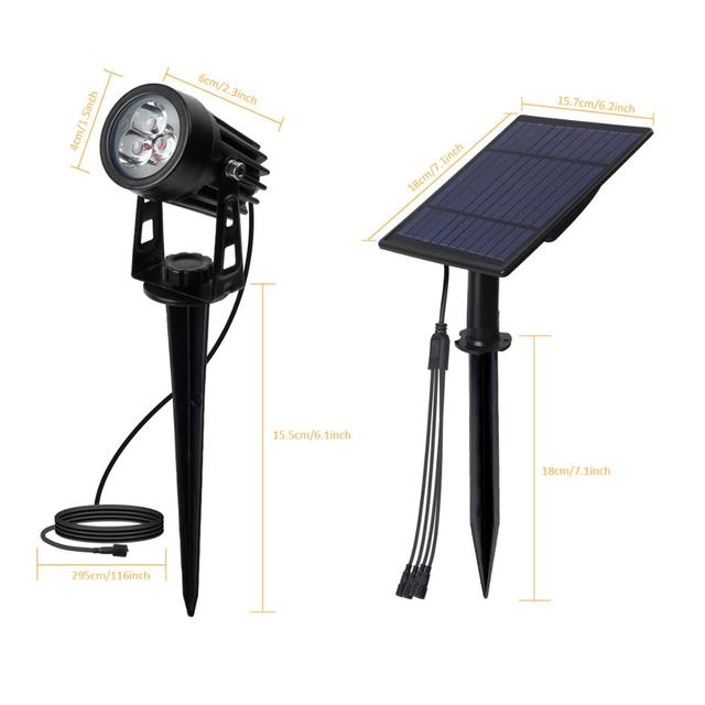 T-SUNRISE LED Solar Garden Light IP65 Waterproof RGB Solar Lamp Outdoors Solar Spotlight For Garden Decoration Wall Light 6