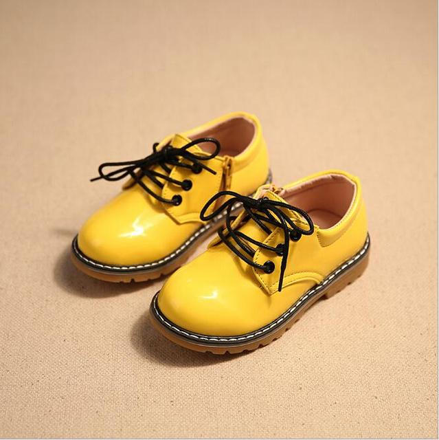 Boys wedding shoes spring 2016 brand fashion gilrs loafers children's short dress casual leather shoes hot style nino