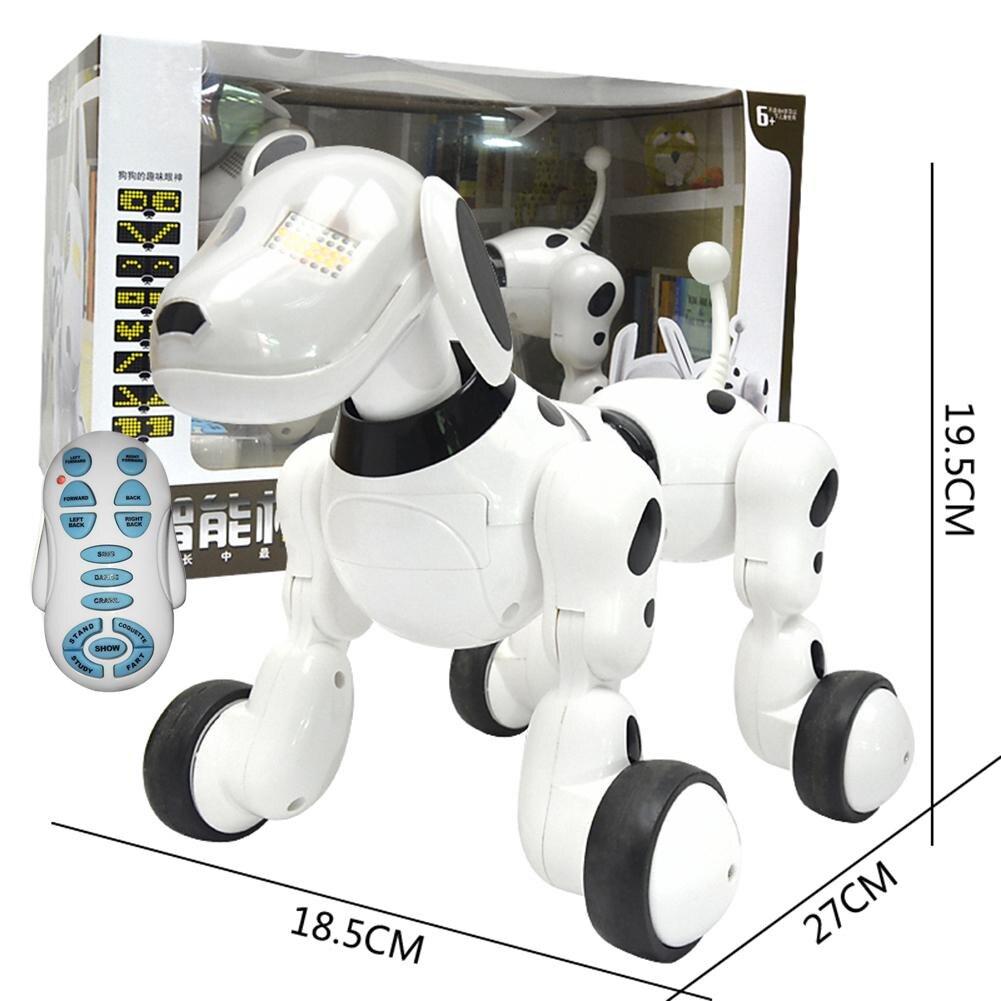 Rc Robot Chien Télécommande Jouets Enfants Intelligent Intelligent Robot Électronique Chanter Danse Pet Chien