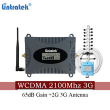 FreeShipping Lintratek 3G 2100MHZ Cell phone Booster WCDMA 2100MHz Mobile UMTS Cellular Repeater for MTS Beeline Vodafone RU