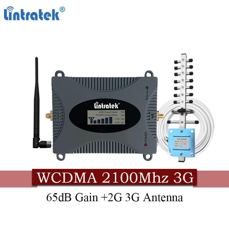 Livraison gratuite Lintratek 3G 2100 MHZ Booster de téléphone portable WCDMA 2100 MHz Mobile 3G UMTS répéteur cellulaire pour MTS Beeline Vodafone RU