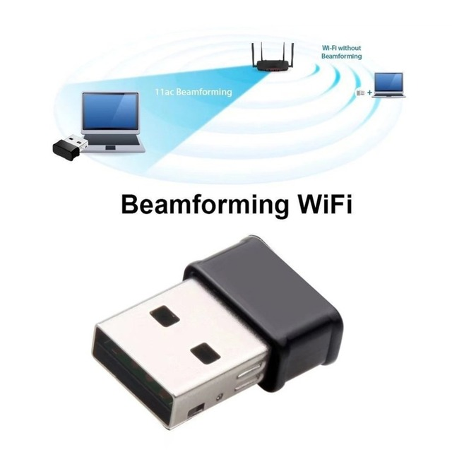 Mini USB WiFi Adapter 802 11AC Dongle Network Card 1200Mbps 2 4G & 5G Dual  Band Wireless Wifi Receiver for Laptop Desktop