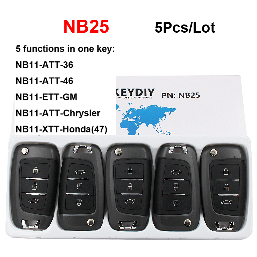 5Pcs Lot NB25 Multi functional 3 Button Universal KD Remote Control for KD900 KD900 URG200 KD