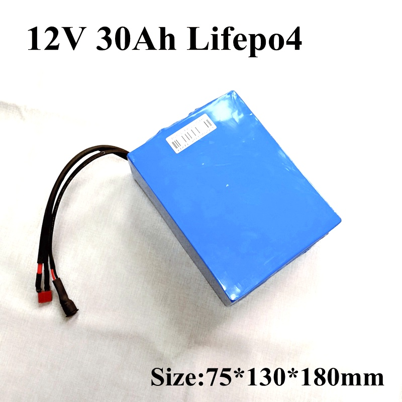 Lifepo4 12v 30ah Battery Pack Customize Plug 12v Rechargeable for Electric Motorcycle Battery 12v Golf Trolley