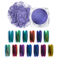 1g Chameleon Nail Mirror Glitter Powder Metallic Color Art UV Gel Polishing Chrome Pigment Dust Decorations