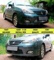 Сетка решетка для Suzuki Liana 2004-2008 автомобилей стайлинг литье защиты украшения chrome или черный pad крышка из нержавеющей