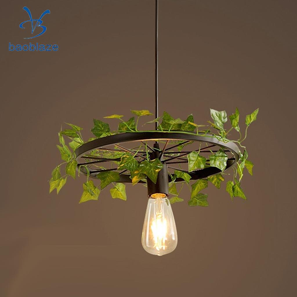 Wagon Wheel Light Chandelier Suspension Ceiling Pendant