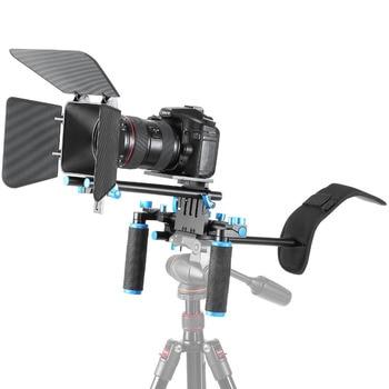 Neewer Movie Video Making Rig Set System Kit:Shoulder Mount+15mm Rail Rod System+Matte Box for Canon/Nikon/Sony/Pentax DSLR