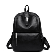 Solid High Quality Leather Backpack Women Designer School Bags for Teenage Girls Luxury Women Backpacks Female Mochila Feminina цены онлайн