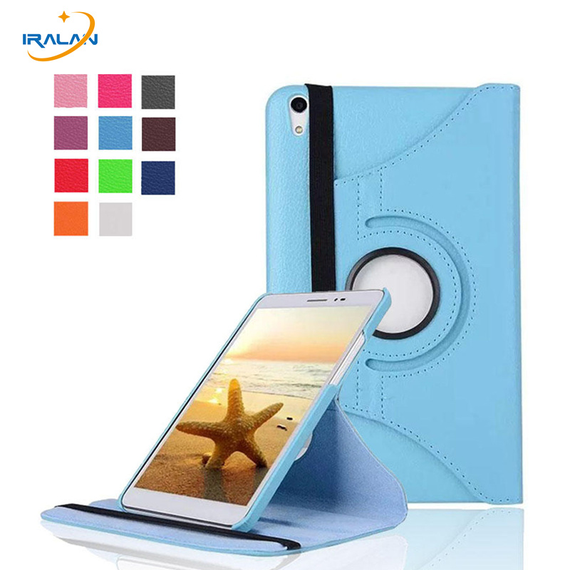 2018 360 Rotating Flip Stand Leather Case for Huawei MediaPad T2 Pro 8.0 Magnetic Smart Cover for Huawei Honor Pad 2 8 inch
