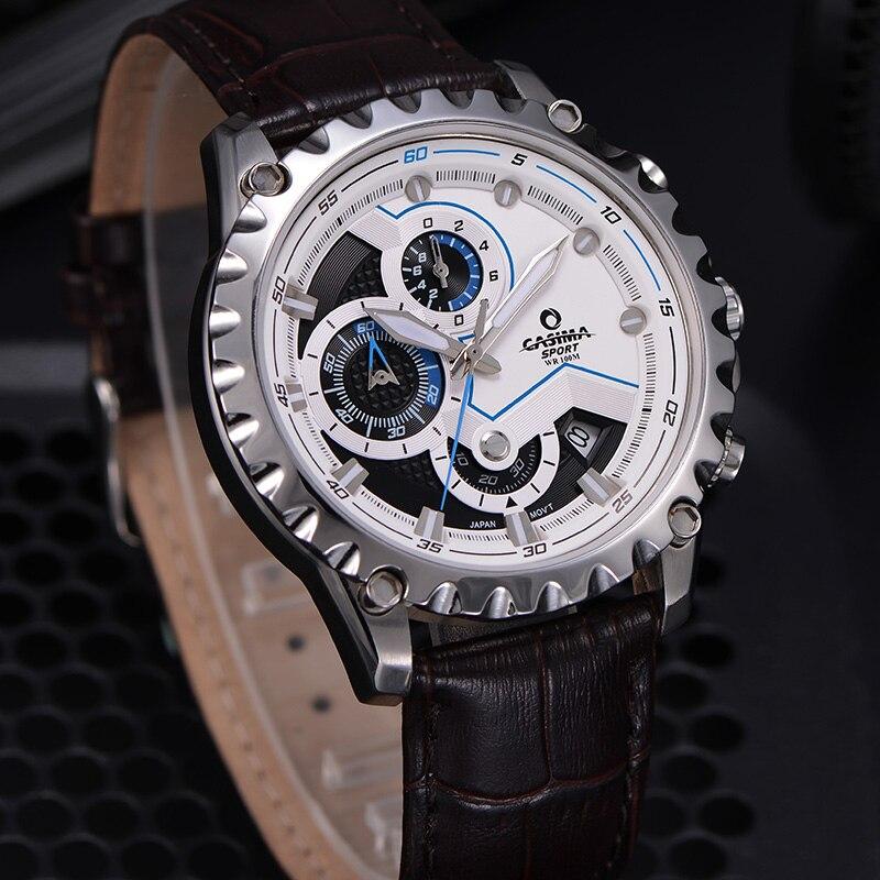 Новый Элитный бренд часы Для мужчин модные роскошные Многофункциональный очаровательные спорта Для мужчин кварцевые часы waterproof100MCASIMA #8203 - 6