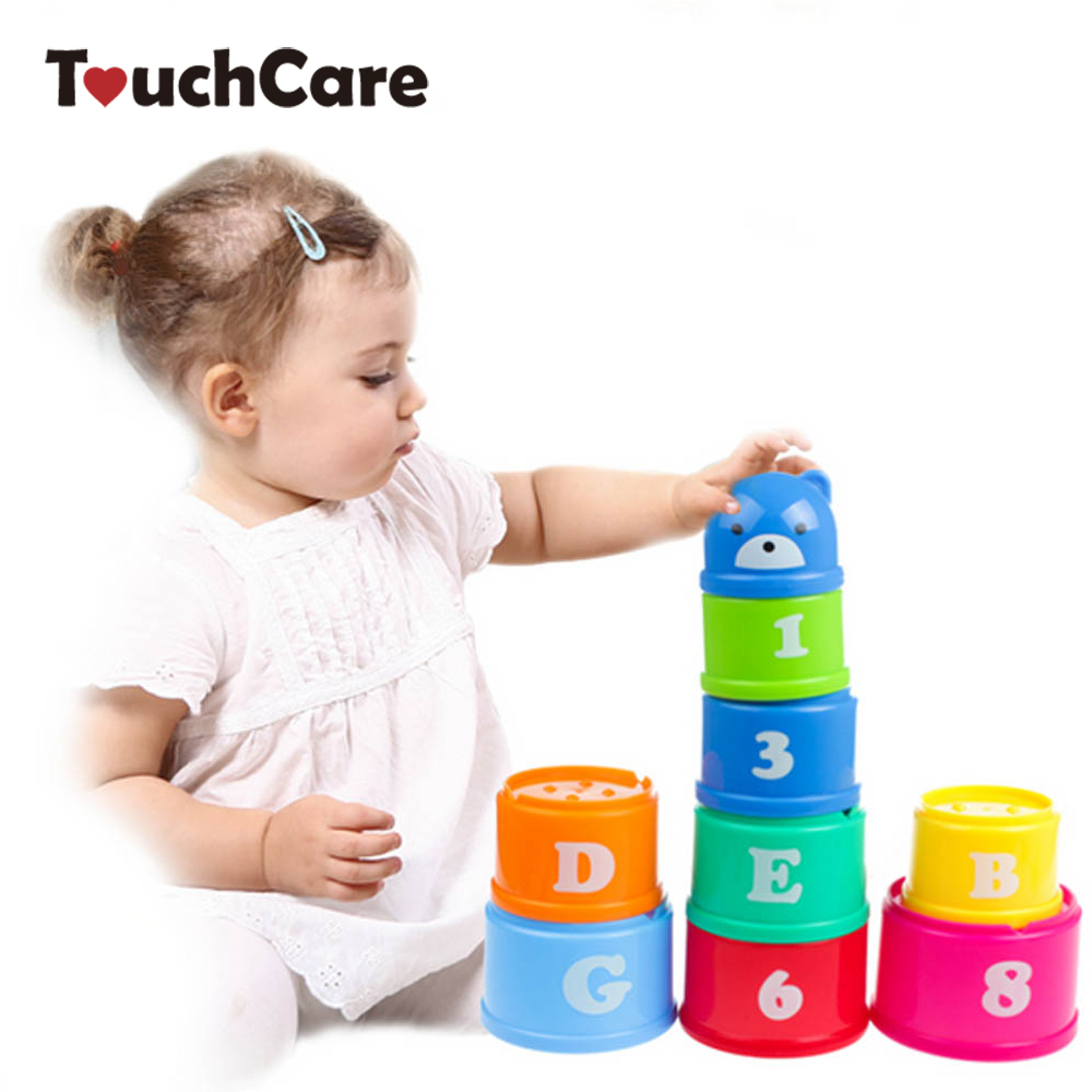 9 pieces/lot Educational kids Toys Figures Letters Folding Cup Stacking Pagoda Baby Children Juguetes Early Intelligence dayan gem vi cube speed puzzle magic cubes educational game toys gift for children kids grownups