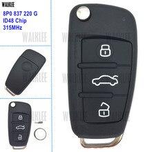 WALKLEE 8P0837220G Remoto Chave 315 MHz trabalho para Audi A3 S3 A4 S4 TT 8P0 837 220G/220G Transmissor Entrada Keyless ID48