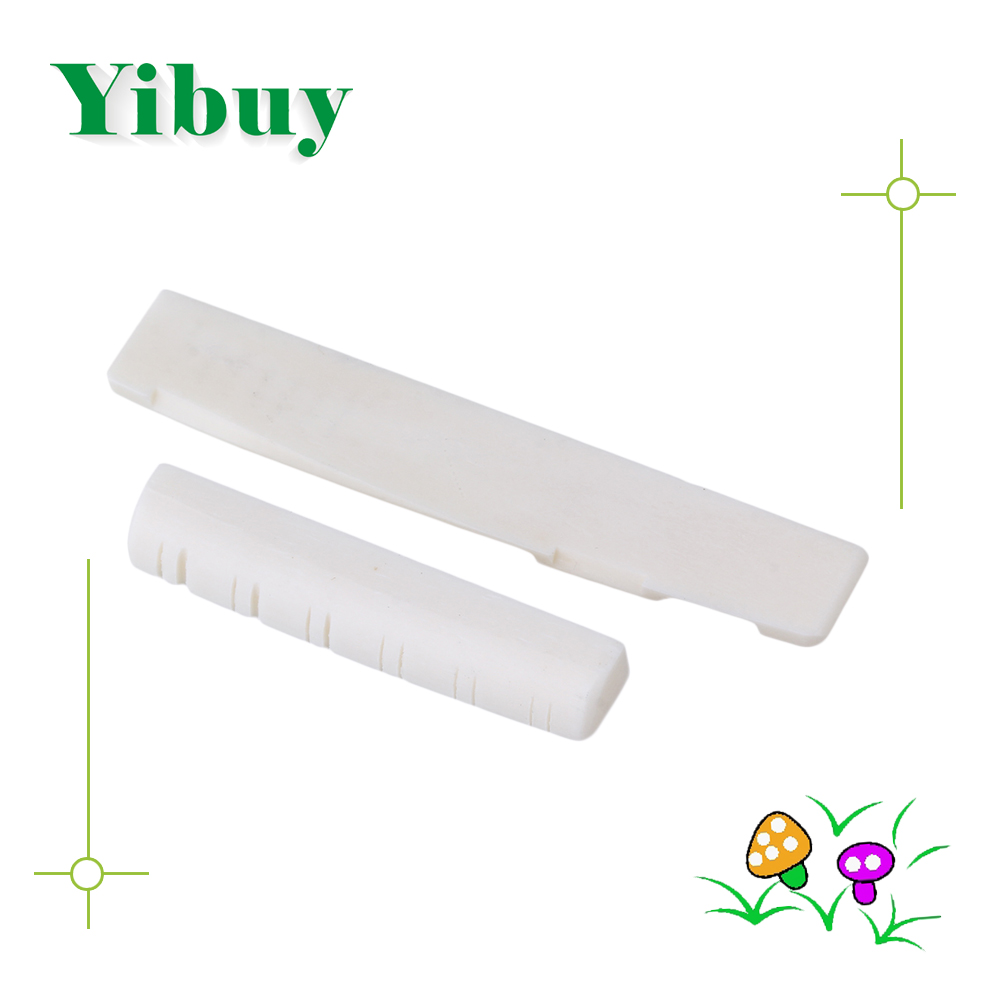 Yibuy Bone Bridge Saddle And Nut For 12 String Acoustic Guitar bridge saddle and nut for 6 string acoustic guitar new