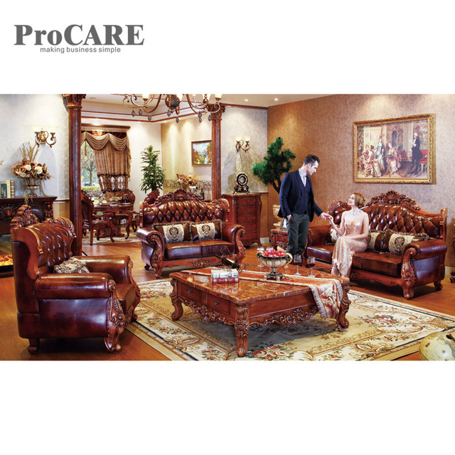 Aliexpress.com : Buy Classic Style Leather sofas 3 Sectional modern sofa  set A935B from Reliable Living Room Sofas suppliers on procare Official  Store