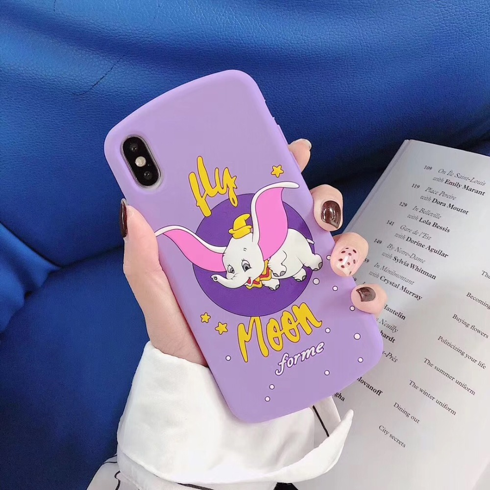 Cellphones & Telecommunications Honest Marchcover 3d Hot Cute Cartoon Dumbo Elephant Moon Star Silicon Purple Case For Ipone X Xs Max Xr 8 7 6 6s Plus Soft Cover Funda In Short Supply Half-wrapped Case