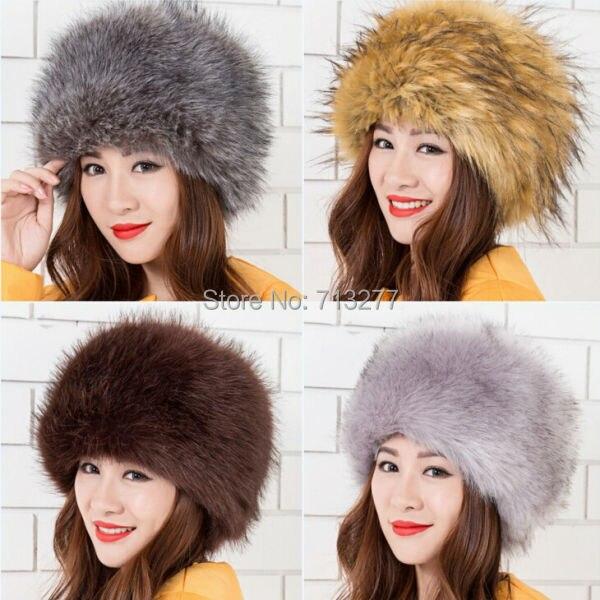 Warm Winter Hat 2017 Imitation Fur Hat Fashion Faux Fur Cossak - Հագուստի պարագաներ - Լուսանկար 2