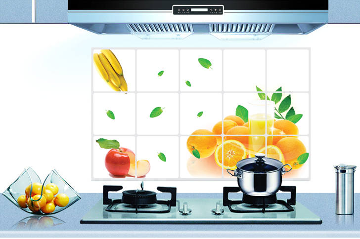 Eco Removable Fruits Design Kitchen Waterproof And Oil Proof