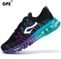 2016 Brand CPX Air Cushon Running Shoes Knit Rainbow Athletic Sneakers Zapatillas Deportivas Hombre Mujer Mesh