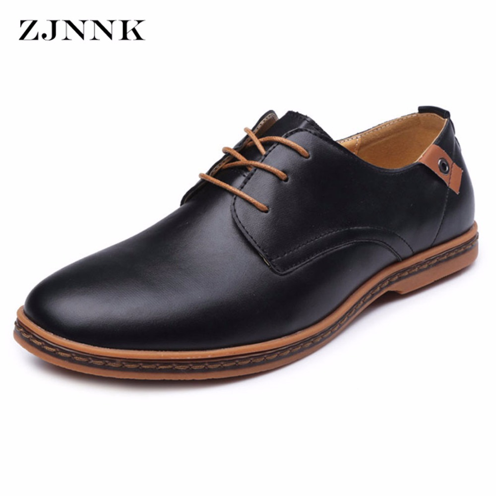 ZJNNK Good PU Men Shoes Large Size Men Casual Shoes Fashion Male Flats Chaussure Homme Men Leather Shoes Big Size ZK05 men leather boat shoes vintage lace up casual driving shoes man fashion flats chaussure homme large size 46 loafers zapatillas