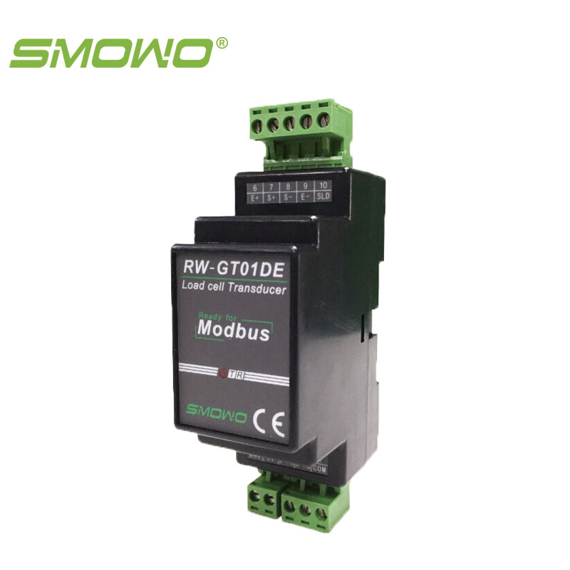 Din rail mounting Load cell/sensor  Amplifier RS485, MODBUS  RW-GT01DE pressure sensor output amplifier 0 10v 4 20ma transmitter rw st01a weighing force measurement balance load cell amplifier