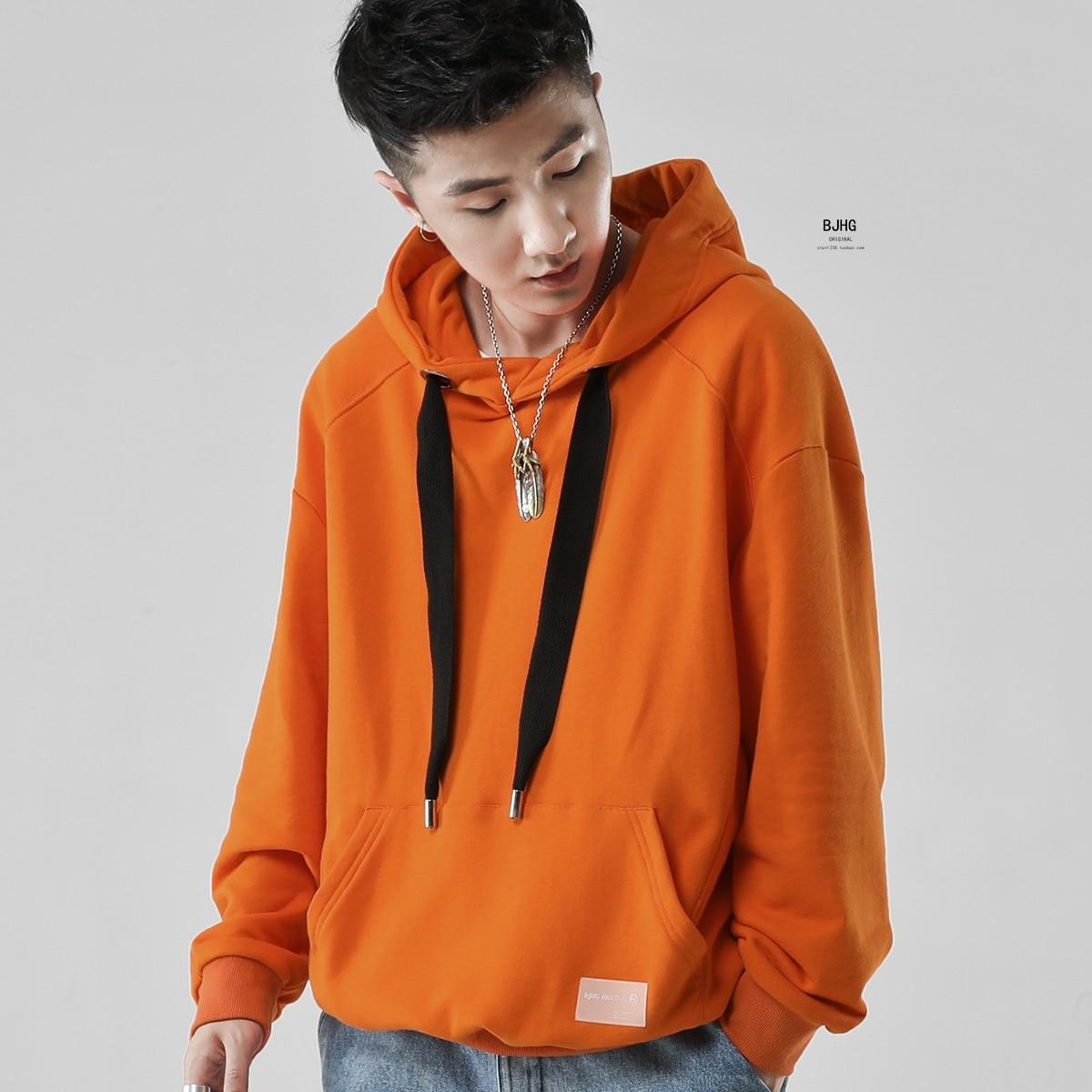 Hip Estilo blanco Fleece Sudaderas Japón verde Hop Invierno Hoodies Orange Casual rojo Militar negro Japonés púrpura Streetwear ASXIawqA