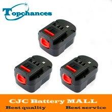 3PCS High quality 12V 3000mAh NI-MH Replacement Power Tool Battery For Black&Decker A12, A12-XJ, A12EX, FS120B, FSB12, HPB12