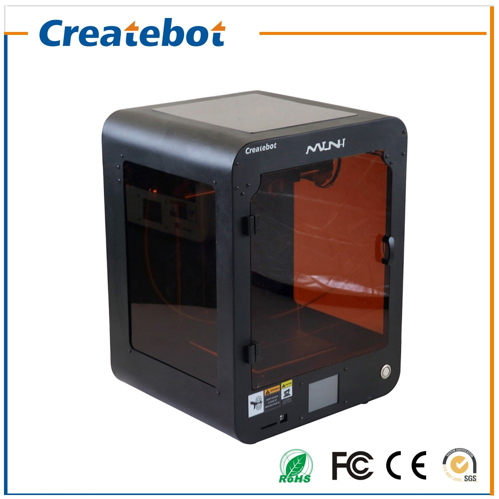Hot Sale Createbot Mini 3D Printer kits Single Extruder Touch Screen Semi-Auto leveling 3D Printing PLA/ABS Filament 8GB SD Card