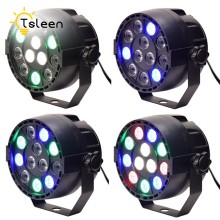 Cheap 12 RGB LED Stage Lights Ball Effects Dancing Auto Strobe Changing Hopping Mix Color DMX512 for Disco DJ Ballroom KTV Bars(China)
