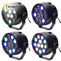 Barato 12 RGB LED luces de escenario bola efectos bailando Auto luz estroboscópica cambiando saltando mezclar Color DMX512 para Disco de DJ baile KTV bares