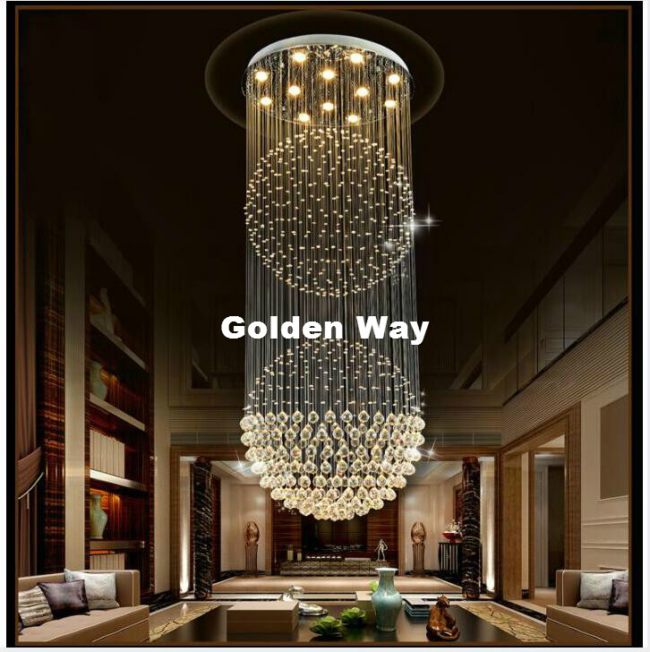 Free Shipping Modern Staircase K9 Crystal Chandelier Lighting Pendant Lamp Crystal Ceiling Lamp Living Room Bedroom Hanging Lamp chandelier lighting crystal luxury modern chandeliers crystal bedroom light crystal chandelier lamp hanging room light lighting
