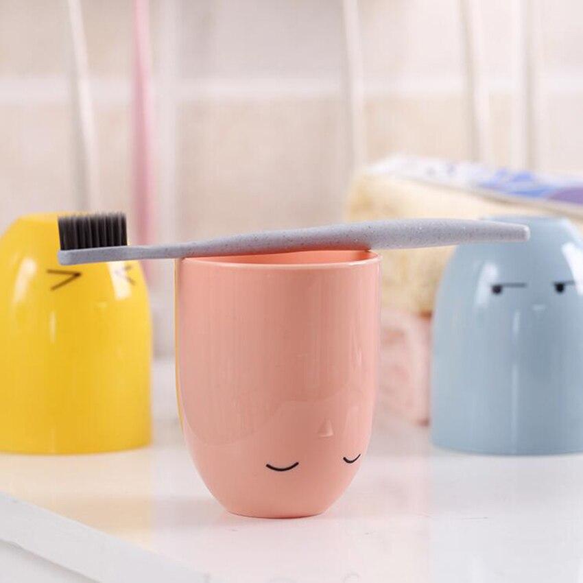 cartoon cute Wall Mount Paste Snap type Gargle Cup Toothbrush Holder Storage Bathroom Suite