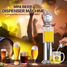 Mini Bier Dispenser Maschine mit Transparenten Schicht Design Tankstelle Bar Doppel Gun Pumpe Trinken Gefäße für Wein Trinken