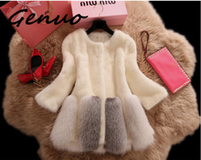 2019 new faux fur coats women leather grass coat Plus Size long section full sleeve mink winter jackets and