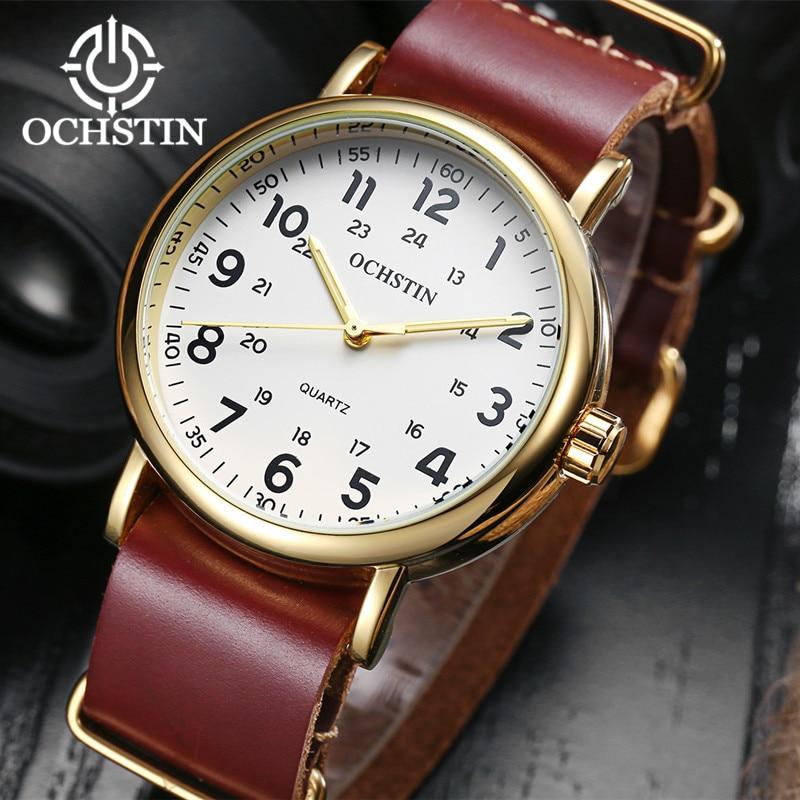 2017 Nieuwe Lederen OCHSTIN Horloges Mannen Top Luxe Merk Hot Ontwerp - Herenhorloges - Foto 4