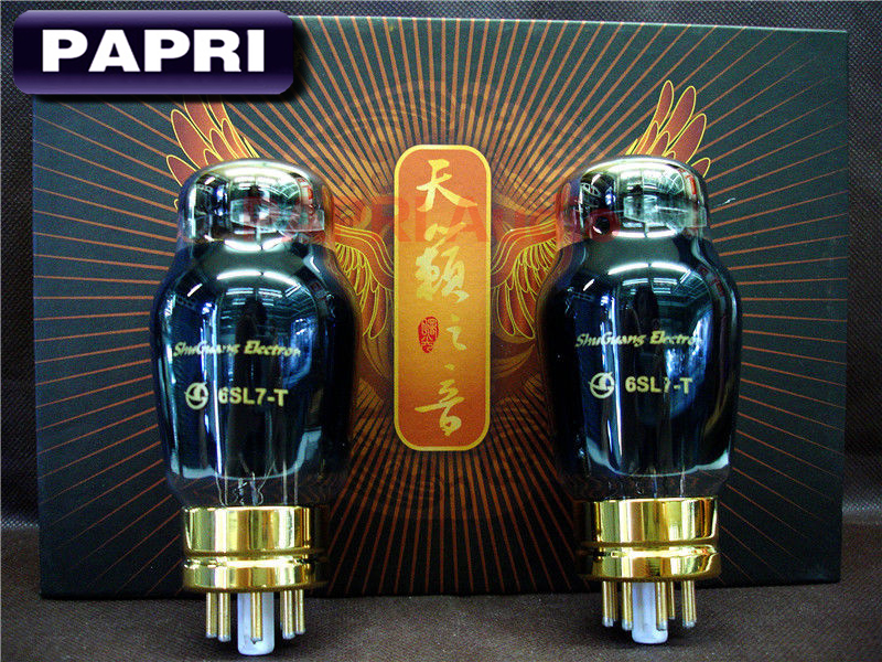 PAPRI Shuguang 6SL7-T Vacuum Tube HiFi Replacement Tube For Audio HIFI DIY Tube Amplifier Factory Tested Matched 1pair music hall shuguang natural sound 12ax7 t audio vacuum tube valve with gold pins 1pcs for tube amplifier