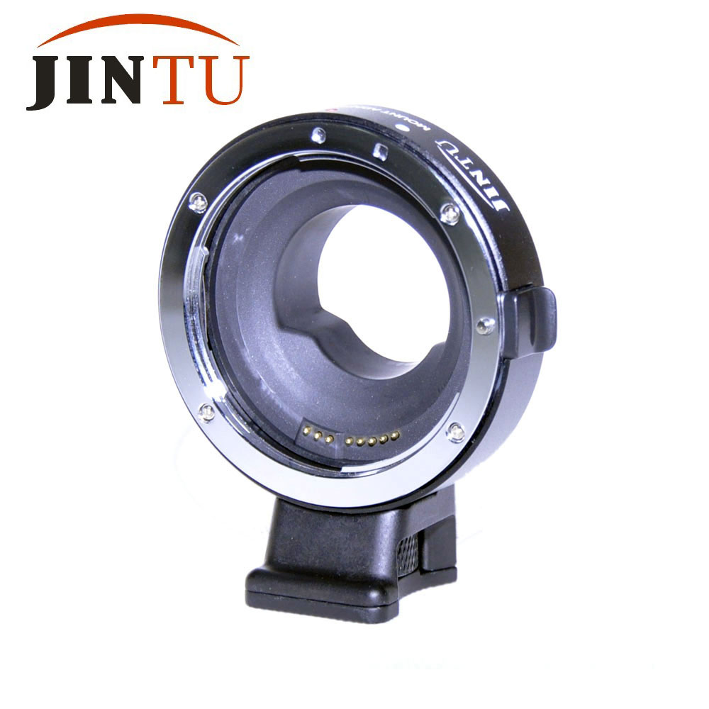 Jintu Auto Focus AF Lens Adapter For Canon EF/EF S Lens to Micro M4/3 For Olympus E PL5 E PL6 E PL7 OM D E M1 E M5 E M5II E M10-in Lens Adapter from Consumer Electronics    1