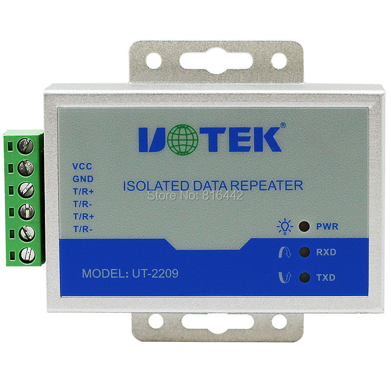485 repeater industrial grade with optical isolation lightning protection RS485 signal amplification module hightek hk 5110a industrial grade 1 port rs232 485 to 4 port rs485 hub each port with optical isolation 600w thunder protection