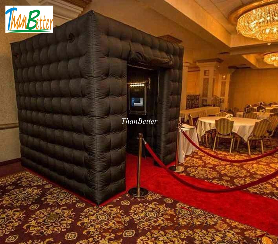 2.4M Hot sale Multi-color LED inflatable photo booth, portable photobooth for sale 4 3 2 5mh portable photo booth inflatable photo booth shell party used photo booth for sale photobooth case kiosk for event