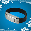 High Quality Metal+Leather Bracelet 8GB 16GB 32GB USB 2.0 Flash Disk/Drive/Pen/Thumb/Car Free Shipping