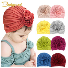 New Baby Girl Hat Cotton Turban Hat Infant Photography Props Kids