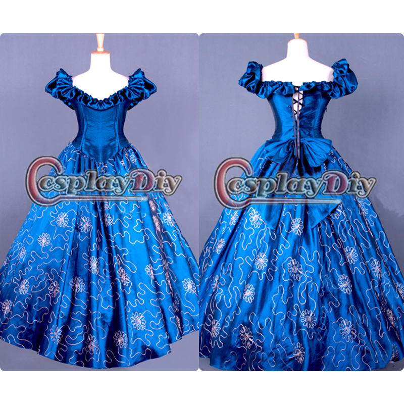 Popular Blue Victorian Dress-Buy Cheap Blue Victorian Dress lots ...