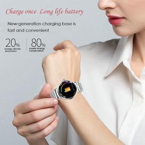 Image 5 - Huacp אופנה H2 חכם שעון נשים מנוסח 3D יהלומי זכוכית לב קצב דם לחץ שינה צג יום הולדת מתנת גברת tracker